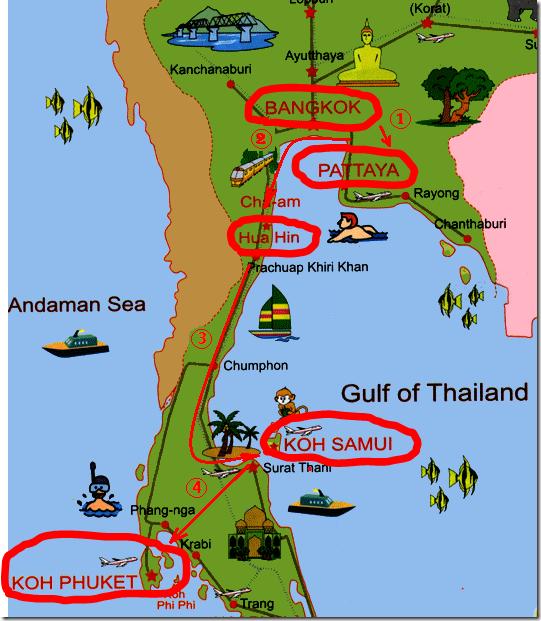 Наш план самостоятельного путешествия в Таиланд